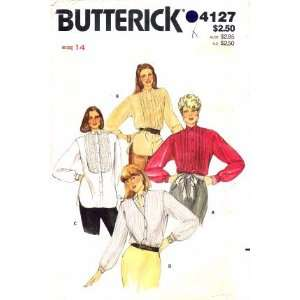 Butterick 4127 Sewing Pattern Front Button Blouse Size 14