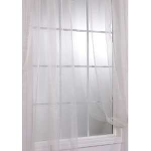 Panels) Off White Solid Faux Organza Sheer Curtains & Panels: Home