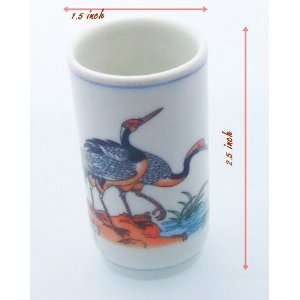 Souvenir Ceramics Shot Glass Handmade From Thailand#AA028
