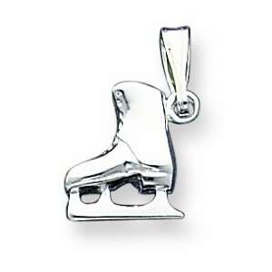 Sterling Silver Ice Skate Charm Jewelry