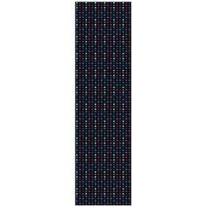 Black Blue Red 9x33 Grip Skateboarding Griptape