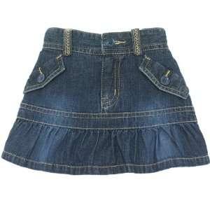 Childrens Place Girls Denim Ruffle Skorts Shorts Sizes 6m   4t Baby