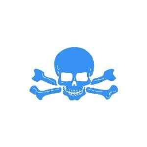 Skull and Crossbones LIGHT BLUE Vinyl window decal sticker