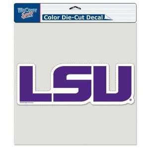 LSU Tigers Die Cut Decal   8in x8in Color Sports