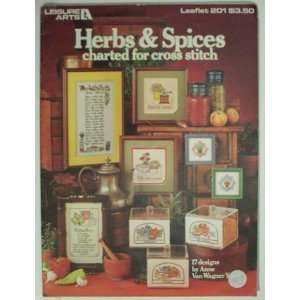 Herbs & Spices charted for cross stitch Craft Book Anne
