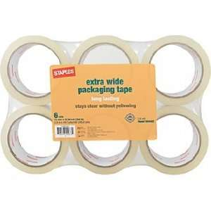 Staples® Clear View Heavy Duty Box Sealing Tape, Clear, 2