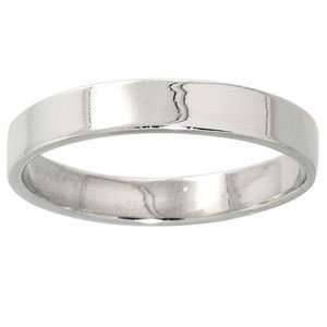 Sterling Silver Classic Flat High Polished Wedding Band (4