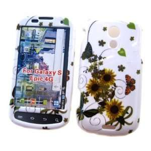 Epic 4G Sun Flower Hard Case Cover Protector (free EDS Shield Bag