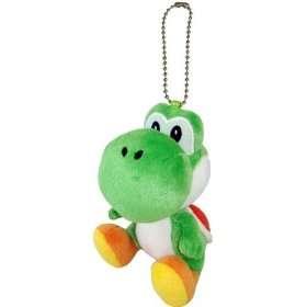 Nintendo Super Mario Yoshi 5 Plush Keychain Toys & Games