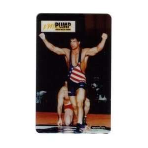 Collectible Phone Card Versa Matic Pump Wrestler In American Flag
