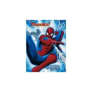 8 Spider Man Thank You Cards Toys & Games