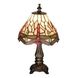 Tiffany Scarlet Dragonfly Mini Lamp Table Lamps  Home
