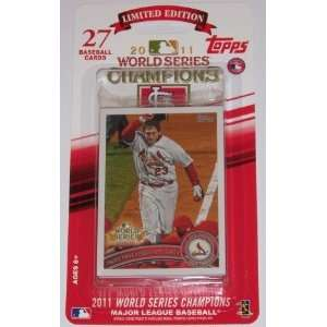 2011 Topps St Louis Cardinals World Series Champions Limited Edition
