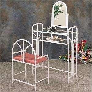 Vanities Art Deco Metal Vanity Set