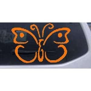 Butterfly 3 Butterflies Car Window Wall Laptop Decal Sticker    Orange
