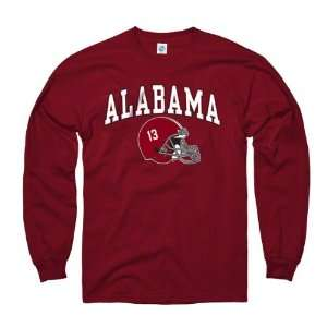 Alabama Crimson Tide Youth Crimson Football Helmet Long