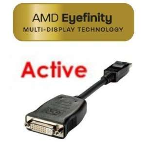 Active DP to Single Link DVI Adapter Computers