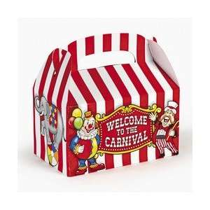 Under the Big Top Empty Favor Boxes Party Accessory  Toys & Games