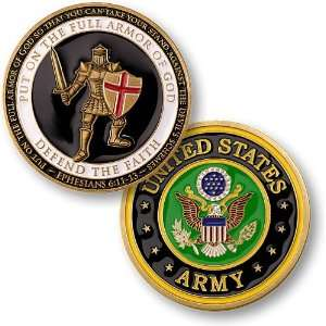 Armor of God   Army Challenge Coin