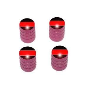 Thin Red Line   Firemen Tire Rim Valve Stem Caps   Pink