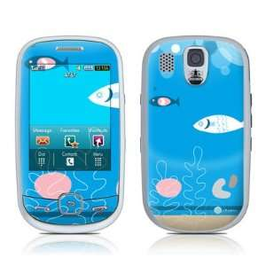 Blue Fish Design Protective Skin Decal Sticker for Samsung Flight SGH
