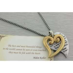 heart pendant necklace with The best and most beautiful things