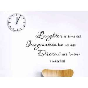 No Age Dreams Are Forever Tinkerbell Vinyl Wall Decal