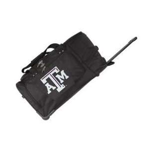 Texas A&M Aggies TAMU NCAA 27 Rolling Duffel Bag: Sports