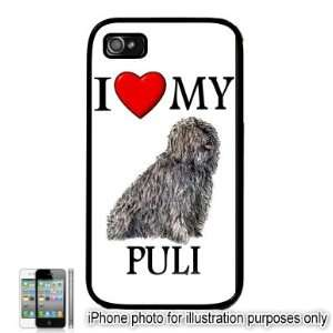 Puli I Love My Dog Apple iPhone 4 4S Case Cover Black