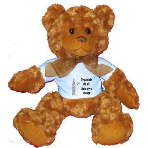 all their own stunts Plush Teddy Bear with BLUE T Shirt Toys & Games