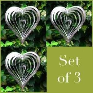 Steel Heart Shaped Wind Spinners for the Garden: Patio, Lawn & Garden