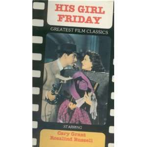 His Girl Friday VHS 1988 Everything Else