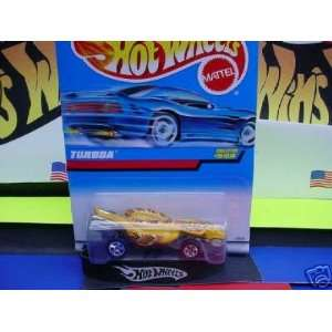Mattel Hot Wheels 1997 164 Scale Yellow Turboa Snake Die Cast Car