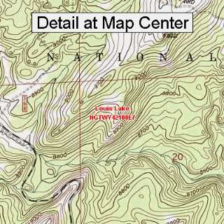 USGS Topographic Quadrangle Map   Louis Lake, Wyoming