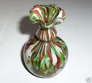1930s ANTIQUE MURANO ART BLOWN GLASS VASE w/GOLD DUST