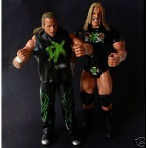 WWF WWE WCW WRESTLING SHAWN MICHAELS & TRIPLE H DX figures (unpackaged