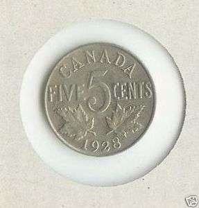 Canada / Canadian Nickel 5 cents 1928
