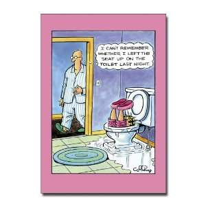Seat Up   Humorous Cartoon Anniversary Greeting Card: Office Products