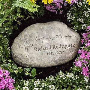 Personalized Memorial Garden Stones   In Loving Memory   8231