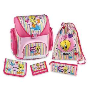 Disney Tweety bird satchel backpack school kids 5er Set 37 x 19 x 40