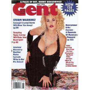 GENT MAGAZINE JUNE 1994 ERIKA EVEREST, TOPSY CURVEY: GENT: Books