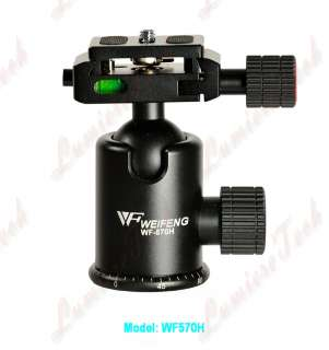 WF570H Pro Camera Tripod Action Drag Ball Head