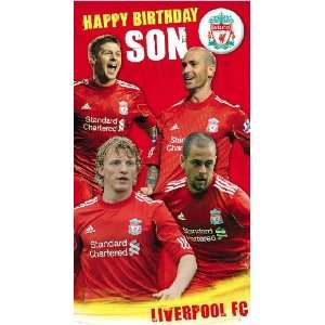 Liverpool Happy Birthday Son Card: .co.uk: Kitchen & Home