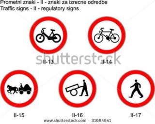 : Traffic signs on slovene roads Prometni znaki na slovenskih cestah