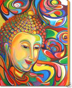 BUDDHA PAINTING   LARGE FINE ART GICLEE PRINT ON CANVAS