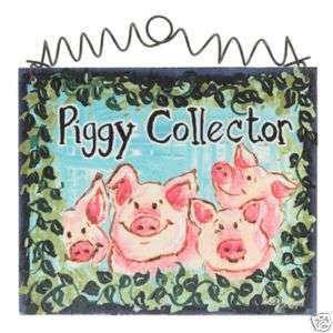 Larger Piggy Pig Sign 4 H Hog Sow Pig pen collector