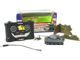 Combat Tank RC Mini German Tiger I Tanks R/C 1:70 Infrared Battle Tank