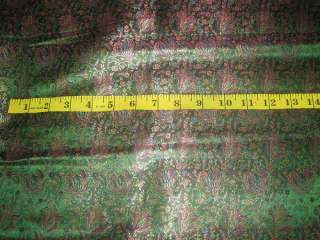 Diseño floral de seda pura verde y de oro de tela de brocado 44