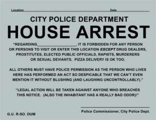 FORECLOSURE, HOUSE ARREST, QUARANTINE 10PK PRANK SIGNS