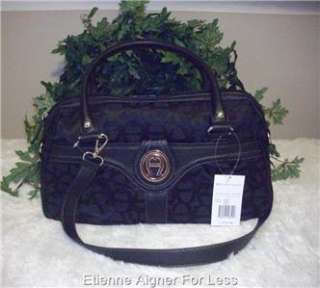 Etienne Aigner Signature Status Quo Satchel, Handbag, Purse Black